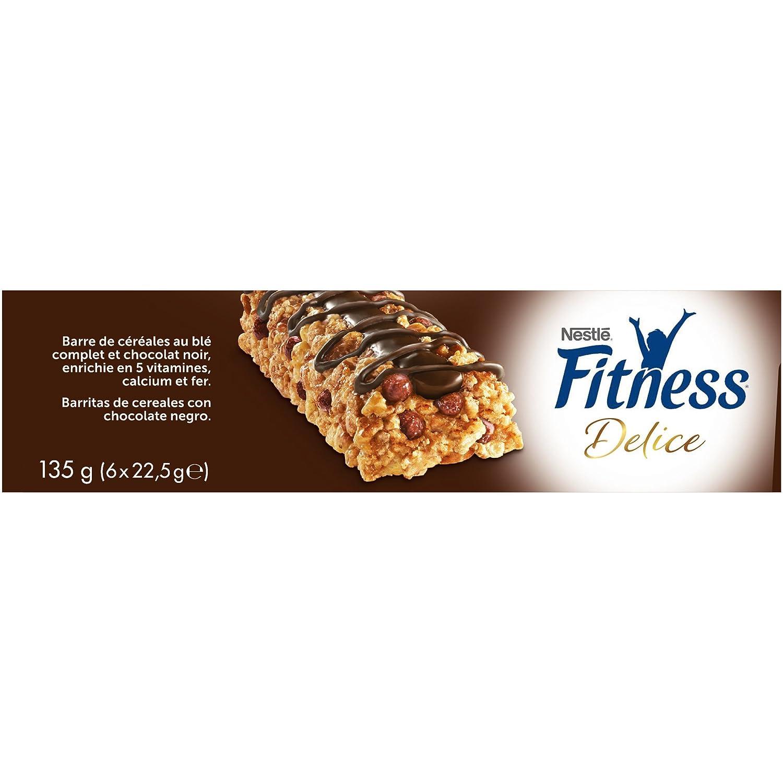 Fitness Barritas de cereales con chocolate negro - Paquete de 6 x 22.50 gr - Total: 135 gr: Amazon.es: Alimentación y bebidas