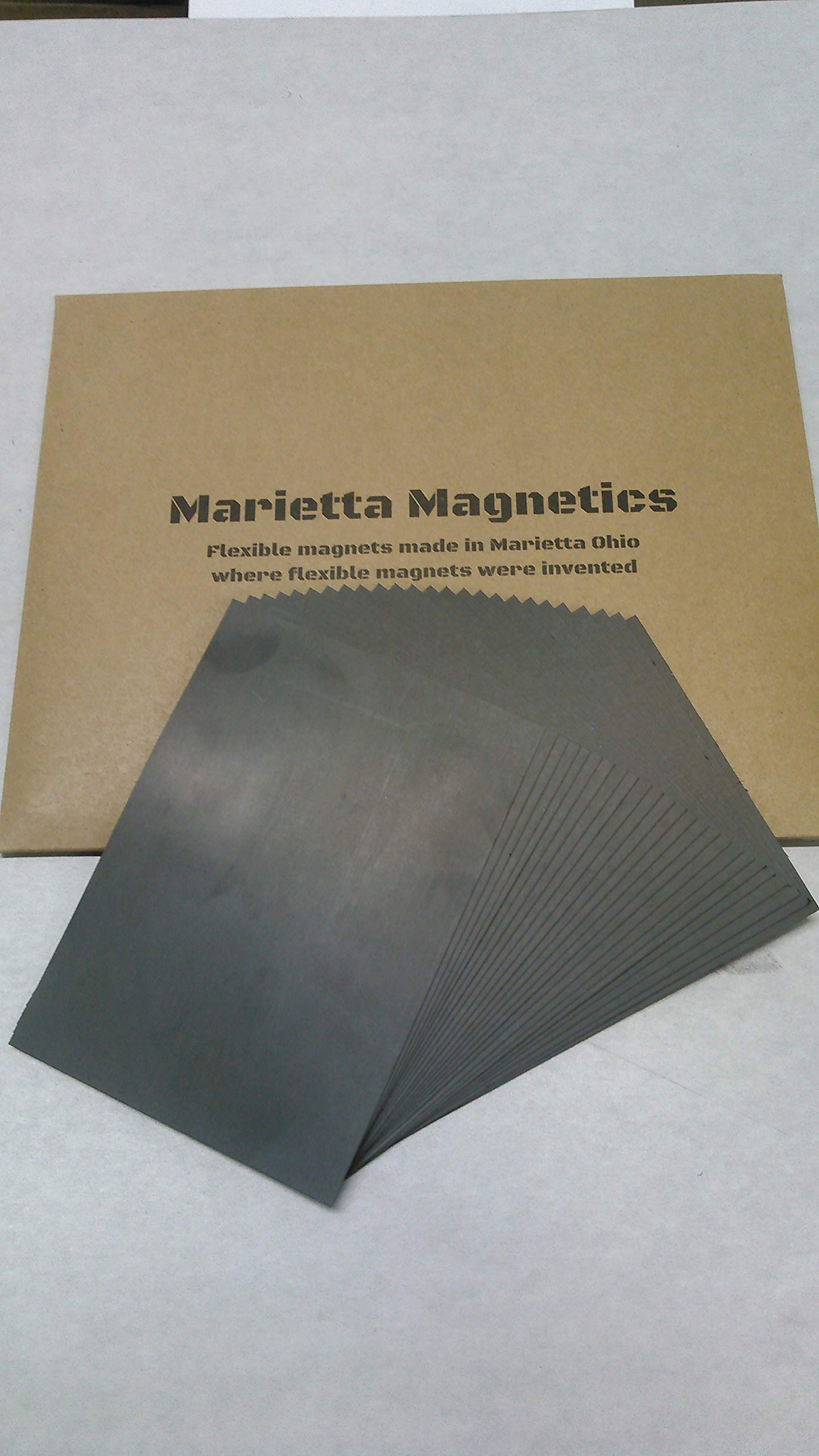 Marietta Magnetics 8.5 x 11 Plain Magnet Sheets 30 mil - 25 Pack by Marietta Magnetics