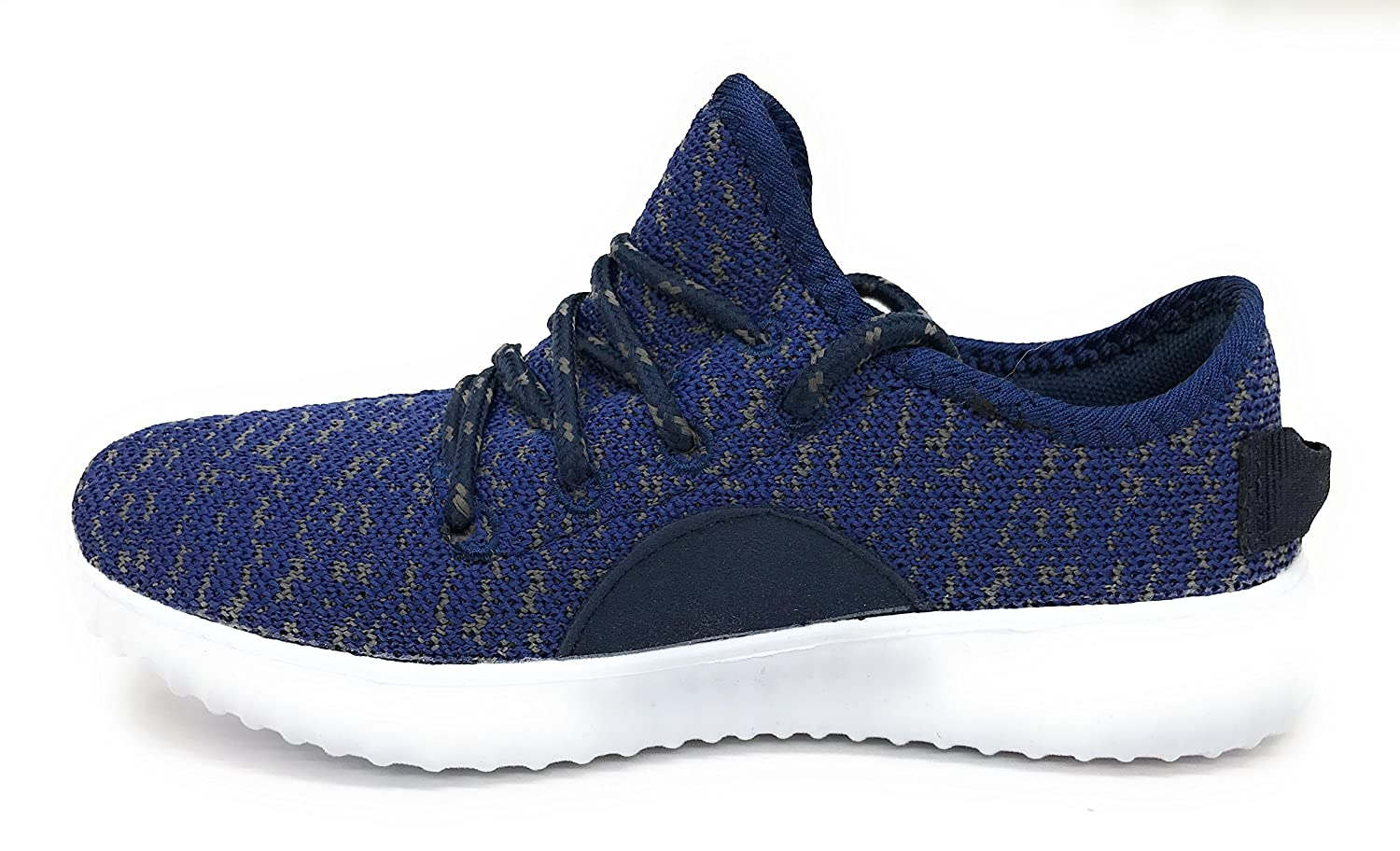 Blue Berry EASY21 Women Casual Fashion Sneakers Breathable Athletic Sports Light Weight Shoes B0735VWM7F 7.5 B(M) US|Navy/Gray