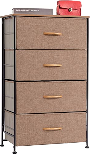 WAYTRIM Fabric 4 Drawers Storage Organizer Unit Easy Assembly