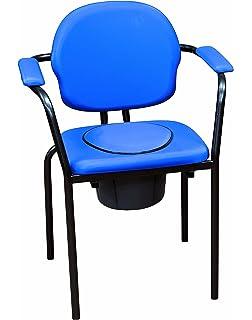silla de habitacin con inodoro y respaldo partido