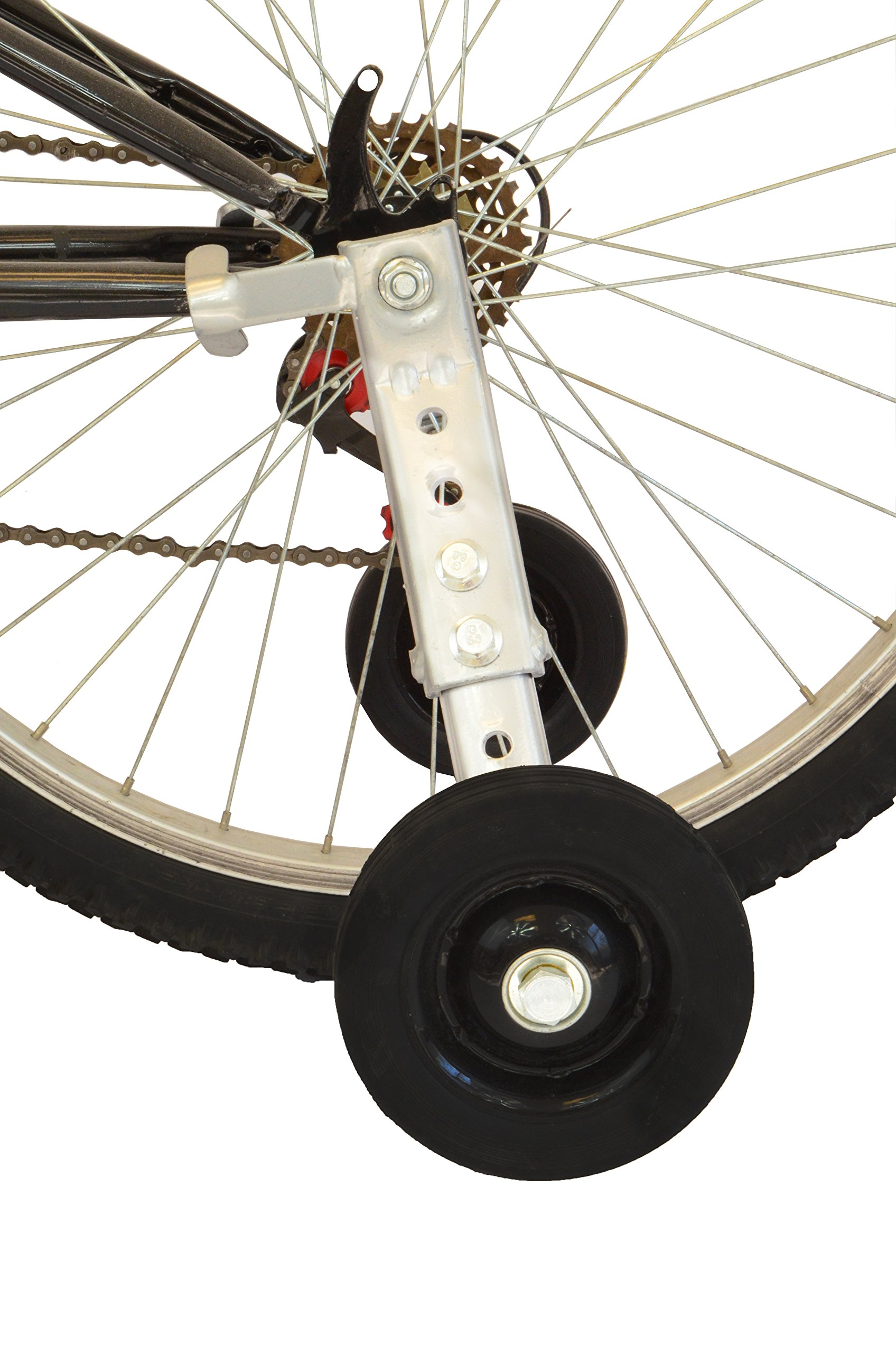 "Lumintrail Heavy Duty Adjustable Bike Training Wheels for 20"" to 26"" Bicycles"