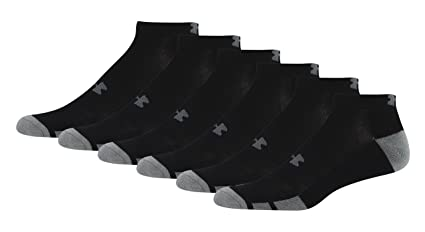 2395cc50cc Amazon.com  Under Armour Men s Resistor Low-Cut Socks (6 Pack ...