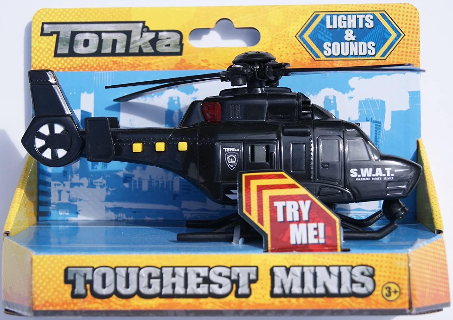 Tonka Lights and Sounds Toughest Minis SWAT Helicopter Hasbro SG/_B00NY3OGJQ/_US