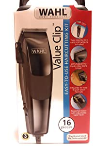 Wahl 9633-1601 Home Cut 16-Piece Haircutting Kit - Black