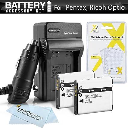 Cargador de batería de alimentación para Pentax Optio wg1 wg-1 GPS