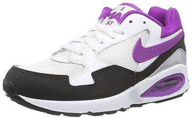 new styles 27de2 bd2cf Nike Air Max St, Sneakers Basses Femme - Blanc - Weiß (Mid Navy