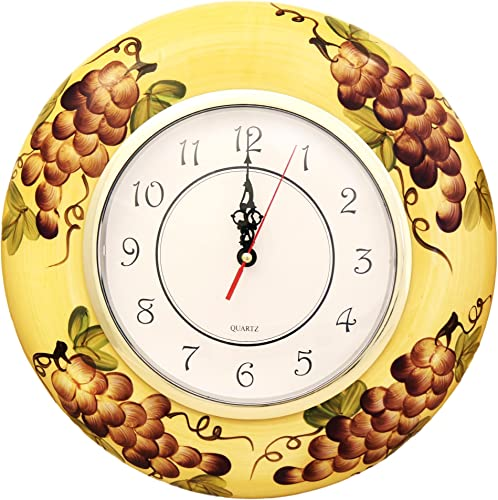 LA Kitchen Home Wall Clock Grape Tuscany Decor