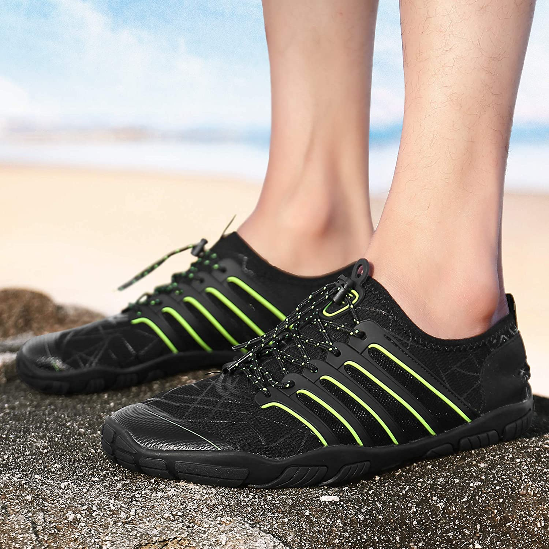 UBFEN Zapatos de Agua Hombre Mujer Zapatillas Snorkel Bucear Surf Deportes Acu/áticos Escarpines Vela Mar R/ío Aqua Calzado Piscina Playa Yoga Transpirable de Secado R/ápido