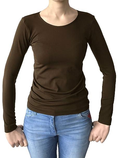 Suéter de Punto térmico con Escote a RAS del Cuello, Manga Larga, Tejido de