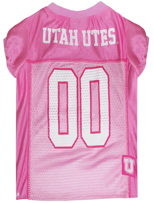 Utah Utes X-Small Utah Utes X-Small NCAA UTAH UTES Dog Pink Jersey, X-Small. Pet Pink Outfit.