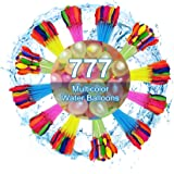 Water Balloons 777 Pack Self Sealing Quick Fill for Swimming Pool Water Games, Multicolor Water Balloons Easy Fill for Summer