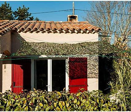 WerkaPro 11094 – Toldo calado 120 g/m2, poliéster, rectangular, 3 x 4 m, color blanco, para balcón, terraza y jardín: Amazon.es: Jardín