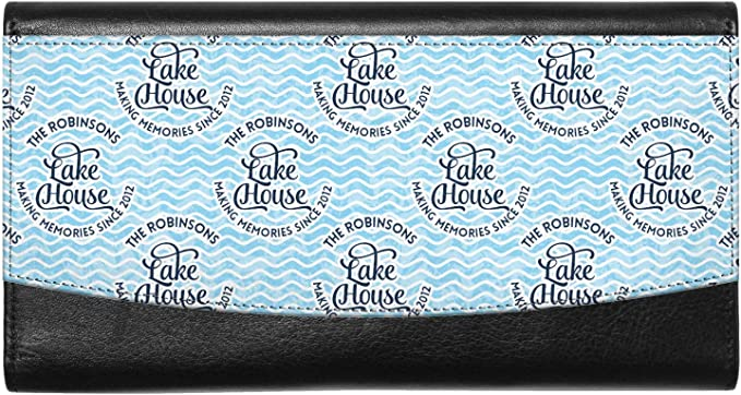 Personalized Lake House #2 Genuine Leather Ladies Wallet