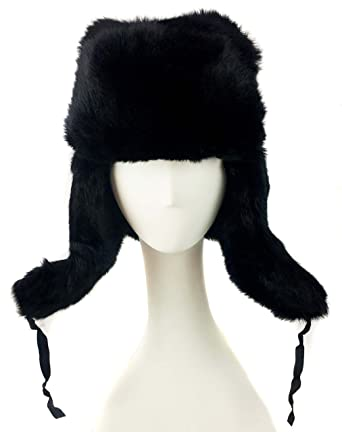310dbeed66765 Image Unavailable. Image not available for. Color  surell Genuine Rabbit  Fur Trapper Aviator Hat ...