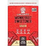 Lakanto Monkfruit Sweetener Packets - 1:1 Raw Cane Sugar Replacement, Zero Net Carbs, Zero Glycemic, Zero Calorie, Keto, Swee