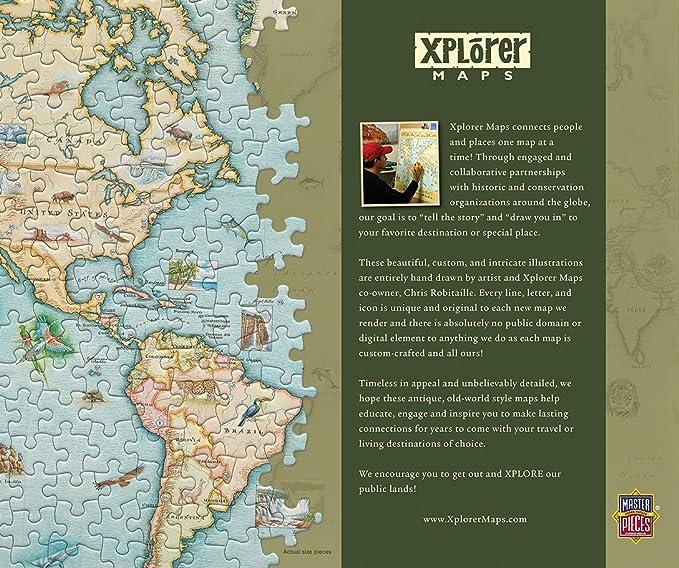 MasterPieces Xplorer The World Map 1000 Piece Jigsaw Puzzle