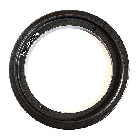 58 mm adaptador inversor de Macro para Canon EOS cámaras réflex ...