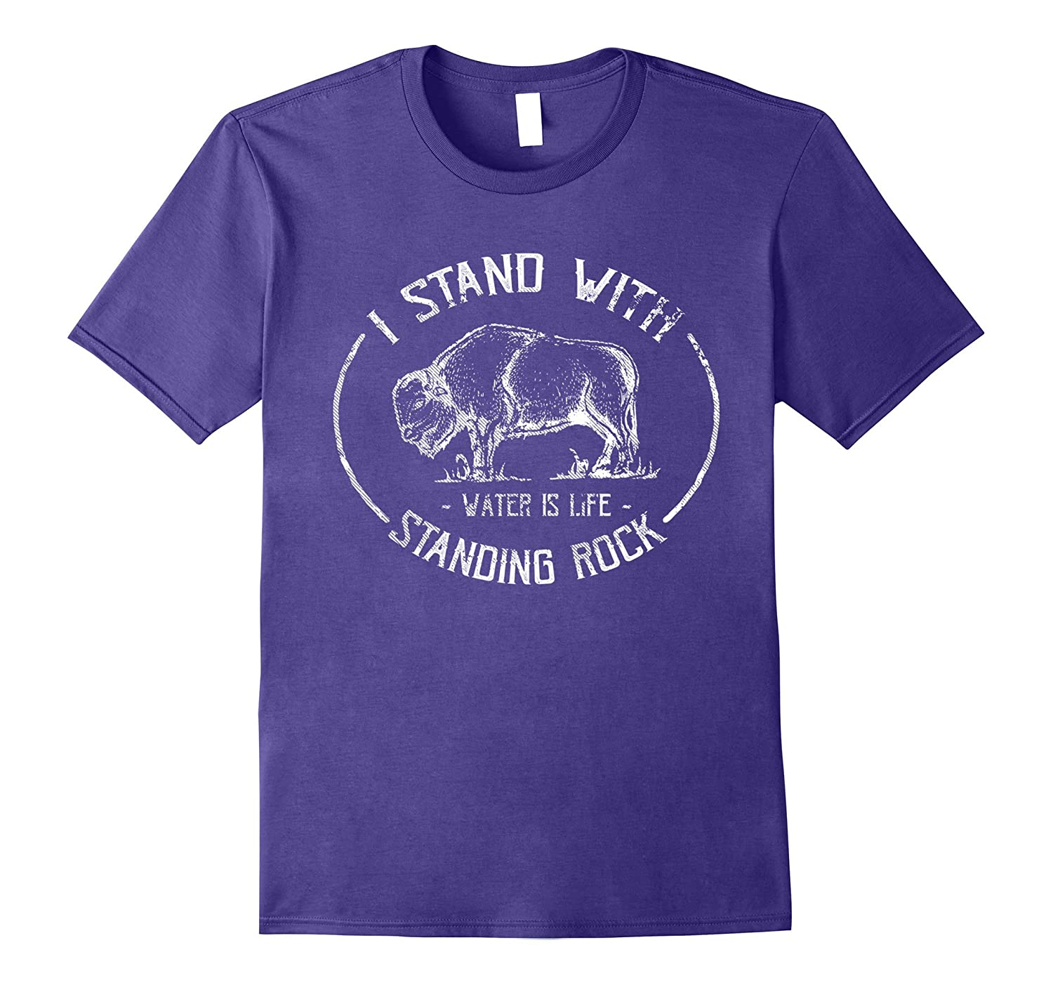 I Stand With Standing Rock - No DAPL Protest Buffalo T-Shirt-CD