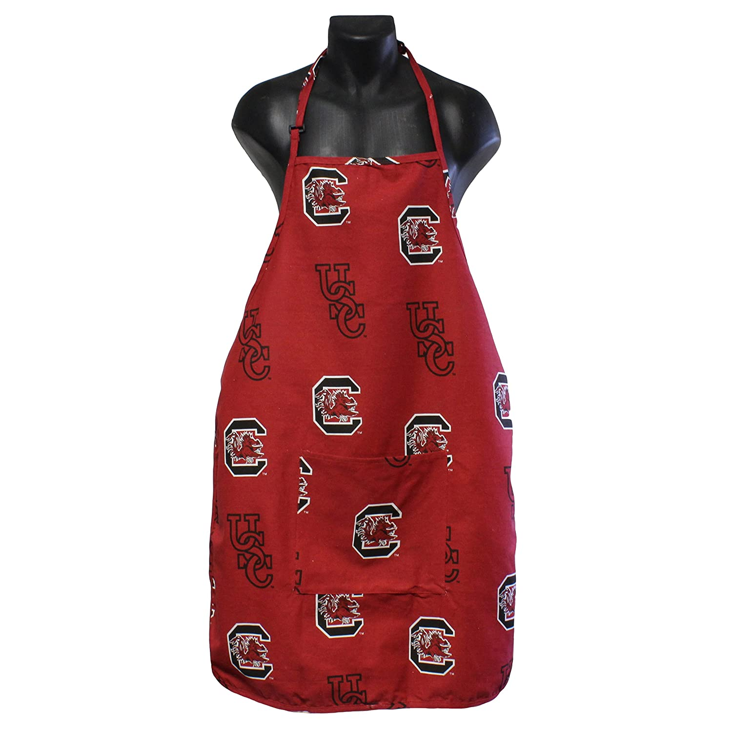 College Covers South Carolina Gamecocks Apron with Pocket One Size Team Colors