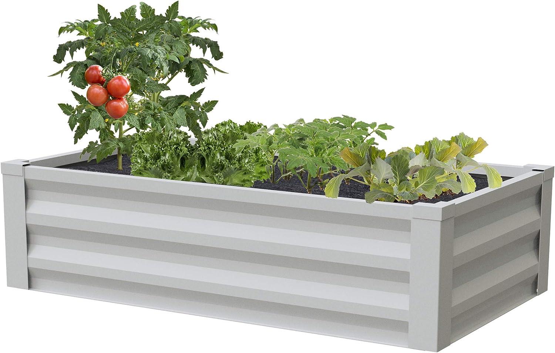 Greenes Fence Powder Coated Metal Raised Garden Bed Planter 24 W X 48 L Amazon Ca Patio Lawn Garden