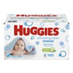 Huggies Refreshing Clean Scented Baby Wipes, Hypoallergenic, 6 Refill Packs, 1008 Count