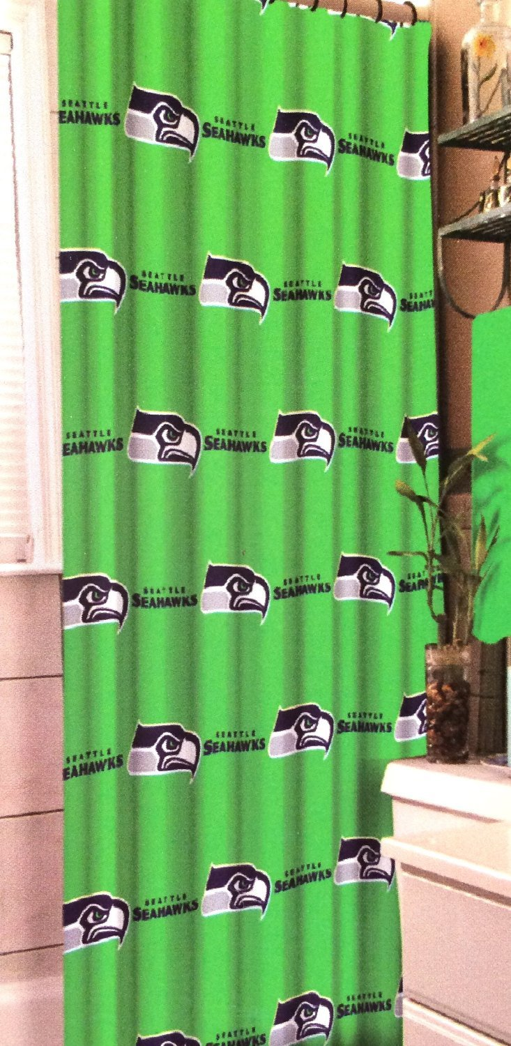 Amazon.com: Seattle Seahawks NFL Football Team Fabric Shower Curtain: Home  U0026 Kitchen