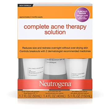 Amazon Com Neutrogena Complete Acne Therapy System Facial Treatment Products Beauty