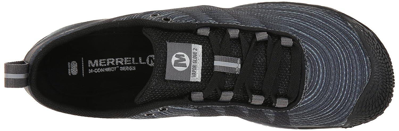 Merrell Women's Vapor Glove 2 Barefoot Trail Running Shoe B00RDL3U5Q 7.5 B(M) US|Black/Castle Rock