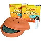 * 22 Anti-Mückenspiralen Mückenabwehr Insektenspirale extra stark + passenden Tontopf + Feuerzeug