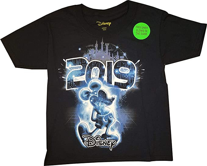 7d38bb55a8c79 Amazon.com: Disney Adult Unisex 2019 Dated Electric Mickey Glow in ...