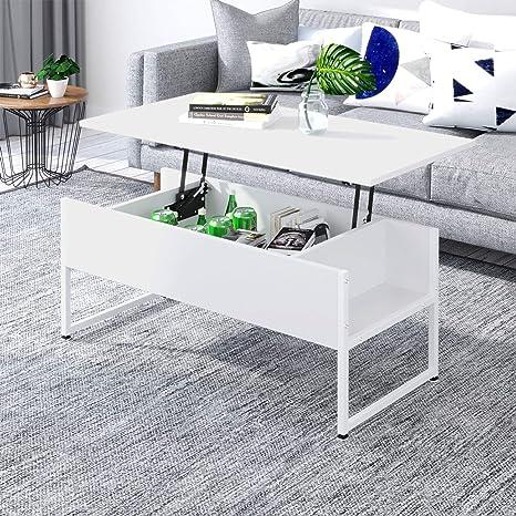 Joolihome : Table basse relevable avec espace de rangement