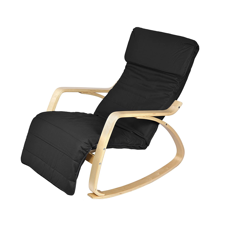 Fabulous Harima Colmar Birch Black Rocking Chair Relaxing Short Links Chair Design For Home Short Linksinfo