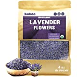 Kodobo Organic Lavender Flowers Dried - Perfect for Tea, Baking, Lemonade, DIY Beauty, Sachets & Fresh Fragrance - 100% Raw from France - Large 4 oz Resealable Bag