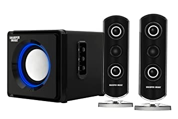 Amazoncom Sharper Image Sbt2002bk 21 Computer Speakers With