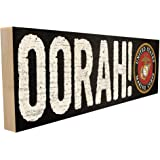 Oorah. Officially Licensed by The United States Marine Corps and Hand-Crafted in Tennessee, This Custom Wood Block Sign Measu