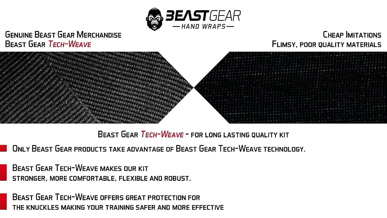 /Superior Qualit/ät Hand Wraps f/ür Combat Sports MMA und Martial Arts ★ 4,5/Meter Gummizug Bandagen von Beast Gear Advanced Handbandagen,/