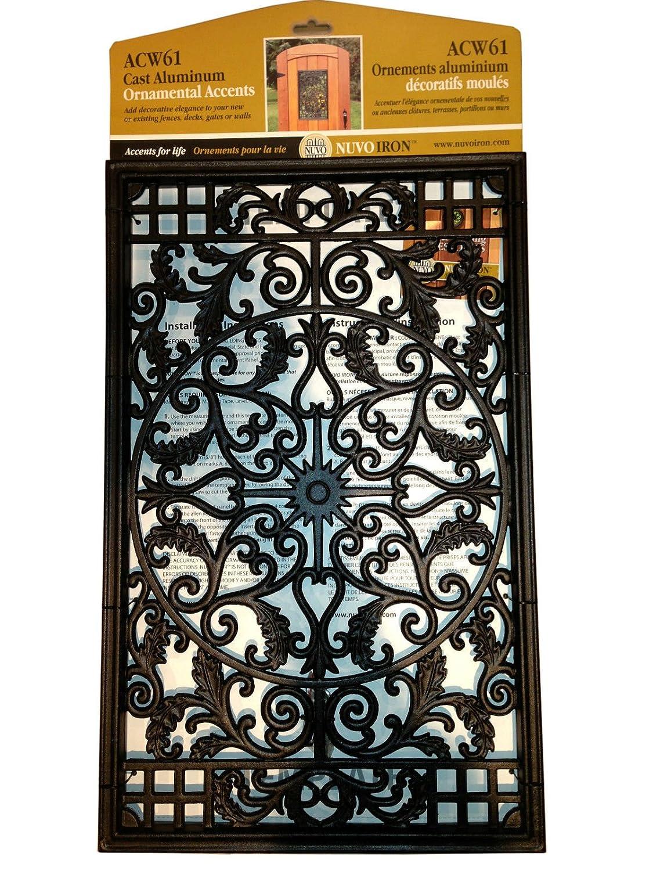 Decorative Metal Grates Amazoncom Nuvo Iron Rectangle Decorative Gate Fence Insert
