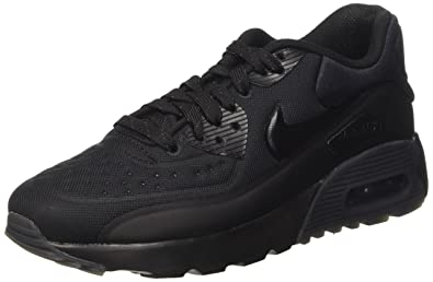 brand new 80c88 0f0eb Nike Youths Air Max 90 Ultra Black Mesh Trainers 36.5 EU