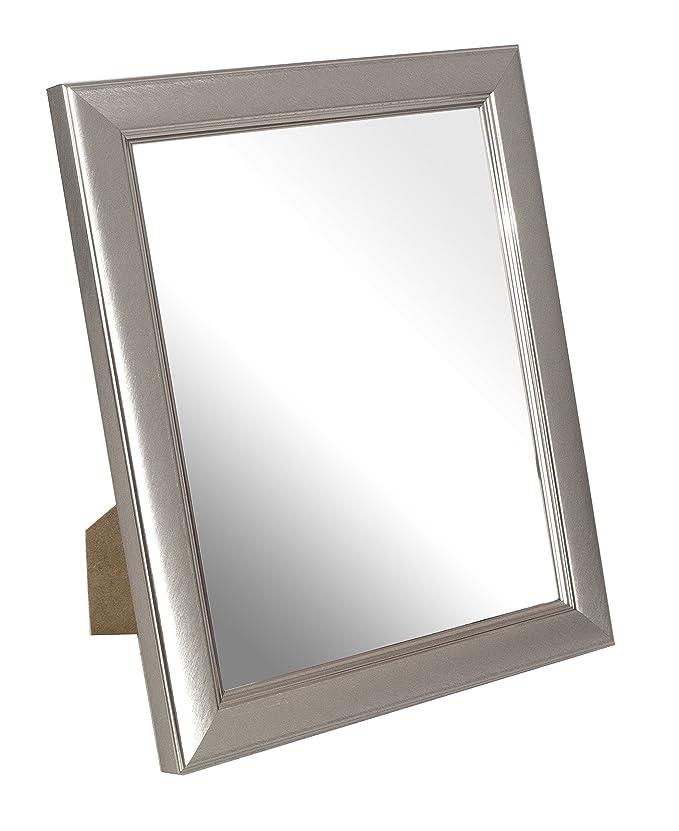 Inov8 Spiegel Rahmen klein gebürstet Zinn 10 x 8, 1, grau: Amazon.de ...