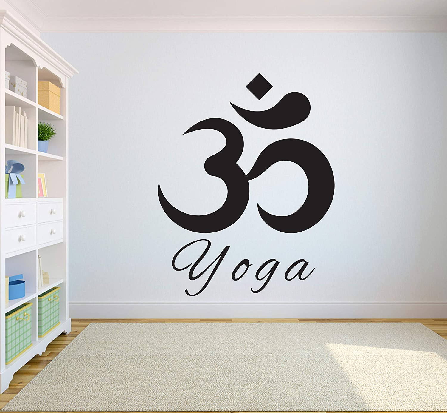 Amazon com yoga wall decal quotes namaste decals lotus flower wall decal yoga decals logo hindu art vinyl sticker 1954re handmade