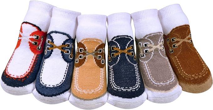 JazzyToes Baby Boys Socks Docksider 0-12 Months Multi