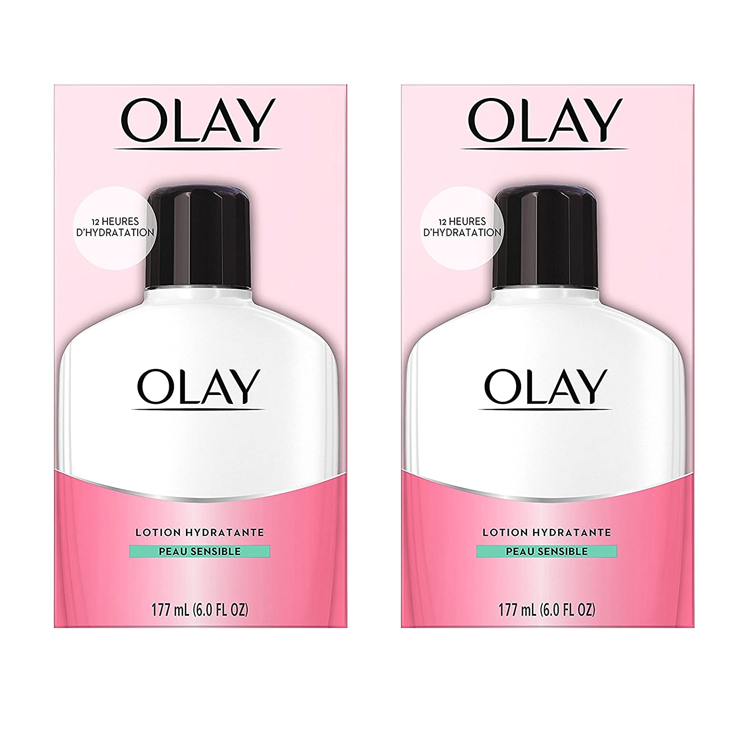 Olay Moisturizing Face Lotion for Sensitive Skin, 177 mL (Pack of 2) NA