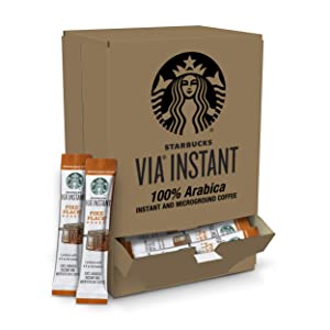 Starbucks VIA Instant Pike Place Roast Medium Roast Coffee (1 box of 50 packets)