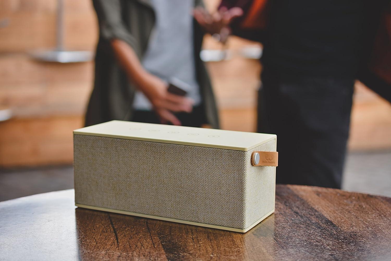 verde militare Army mini cassa senza fili in tessuto Altoparlante Bluetooth portatile 3W vivavoce integrato Fresh /'n Rebel Speaker Rockbox Cube Fabriq Edition Compatibilit/à Smartphone//Tablet//laptop e MP3