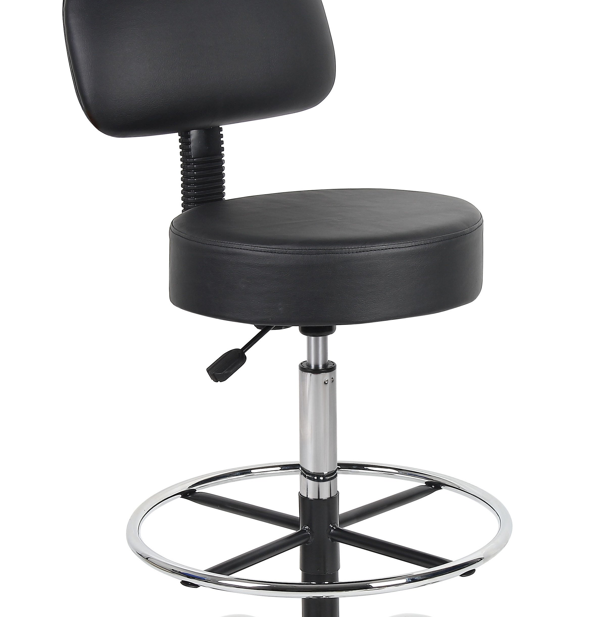 Boss Office Products B16245-BK Be Well Medical Spa Drafting Stool with Back,  Black by Boss Office Products (Image #8)