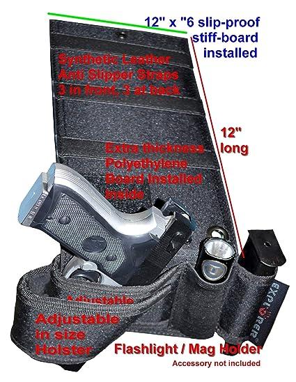 Auto Car Home Seat Pistol Holder Handgun Holster Under Mattress Bedside Gun Case