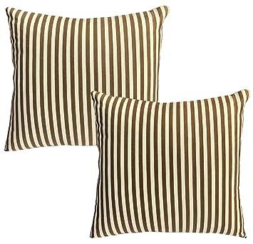 Amazon.com: Casual algodón y lino de rayas decoración ...