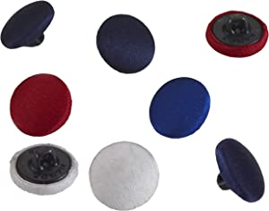 """PEARL 24 Count Satin Covered Buttons, 5/8"""", Black"""