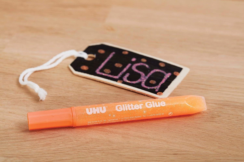 UHU Glitter Glue Glow in the Dark 10 ml 5 St/ück